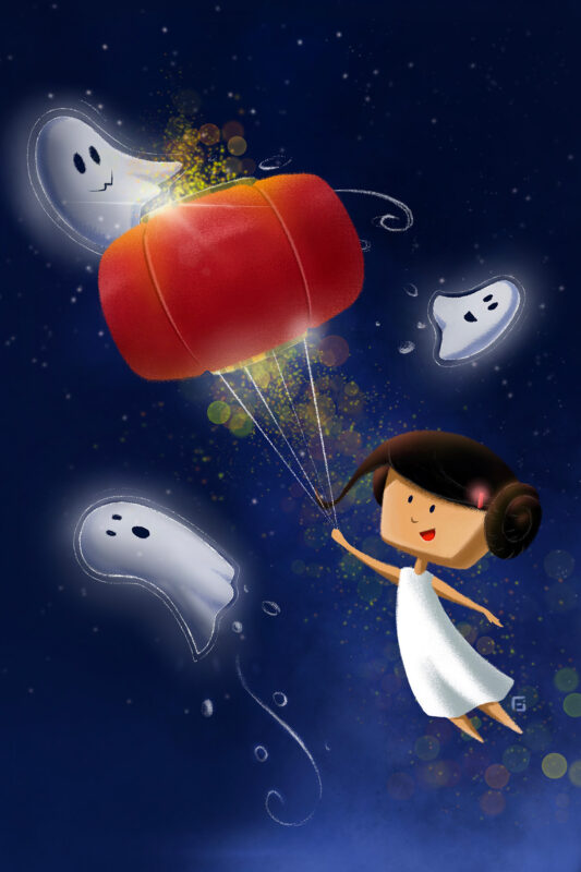 Little Girl with Ghosts